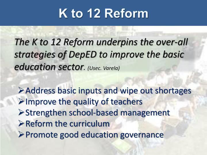 K to 12 Reform