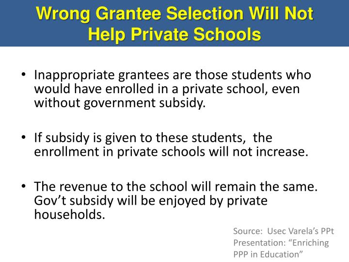 Wrong Grantee Selection Will Not