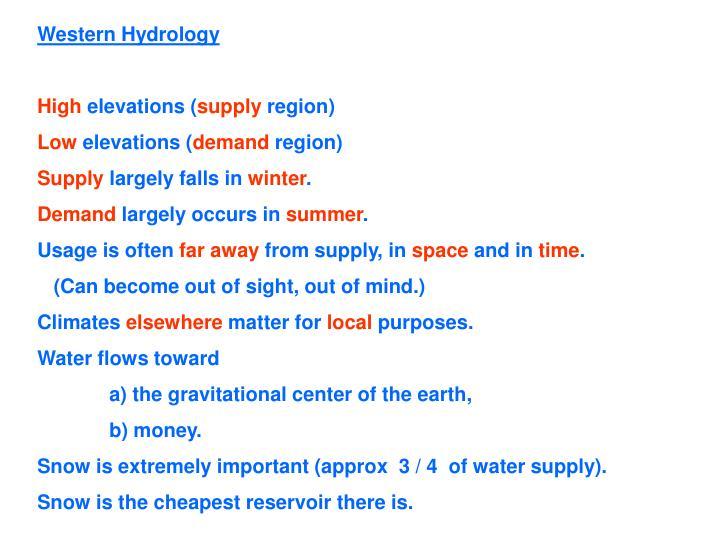 Western Hydrology