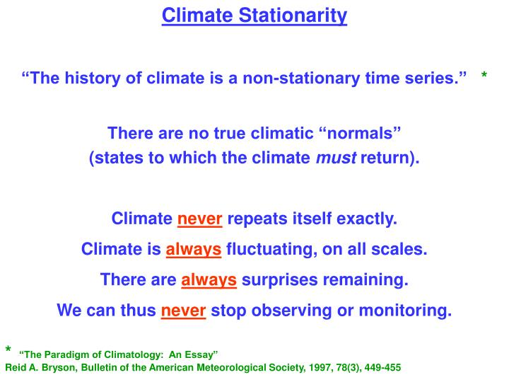 Climate Stationarity
