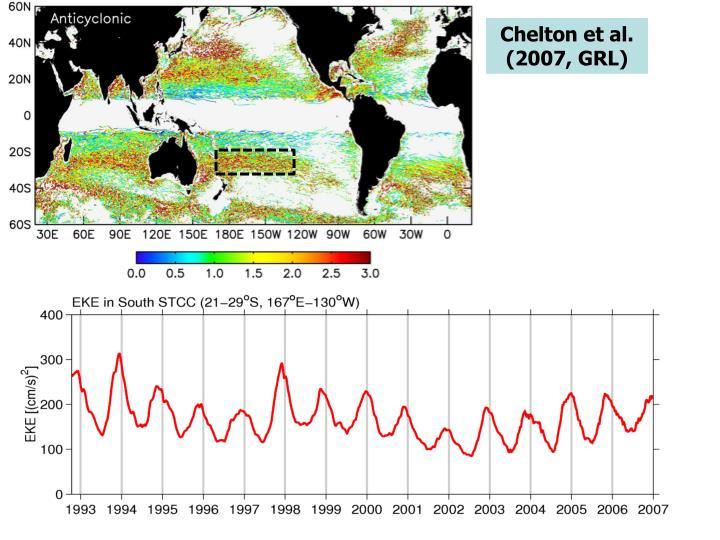 Chelton et al. (2007, GRL)