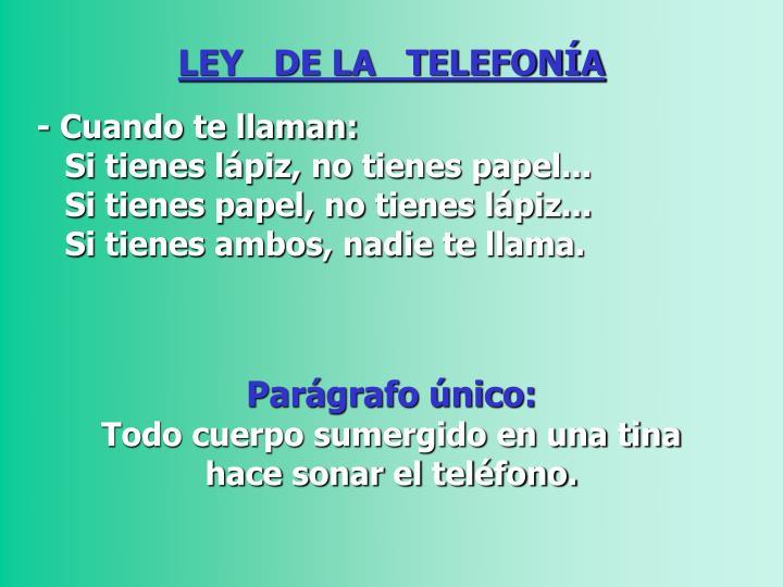 LEY   DE LA   TELEFONÍA