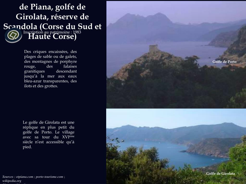 Golfe de Porto : calanche de Piana, golfe de Girolata, réserve de Scandola (Corse du Sud et Haute Corse)
