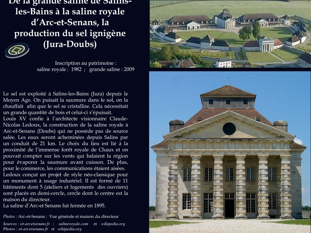 De la grande saline de Salins-les-Bains à la saline royale d'Arc-et-Senans, la production du sel ignigène (Jura-Doubs)