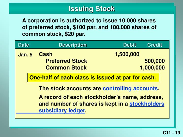 Issuing Stock