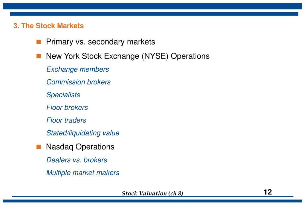 3. The Stock Markets