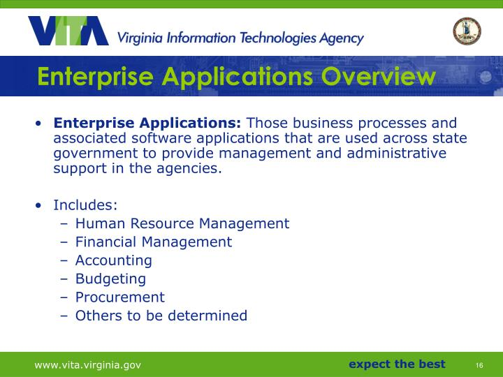 Enterprise Applications Overview