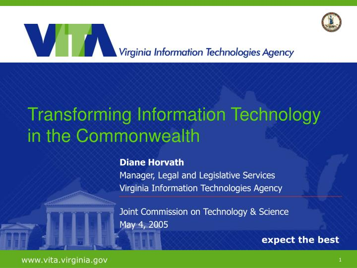 Transforming Information Technology in the Commonwealth