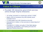 value to citizens