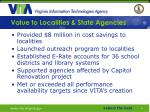 value to localities state agencies