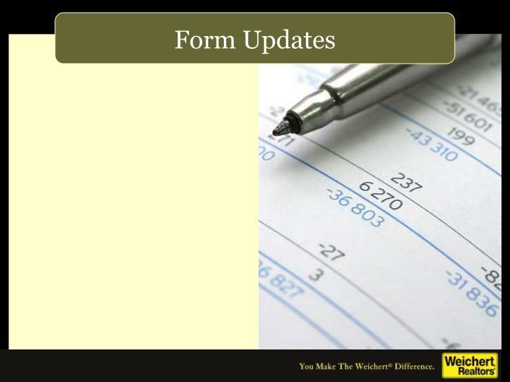 Form Updates