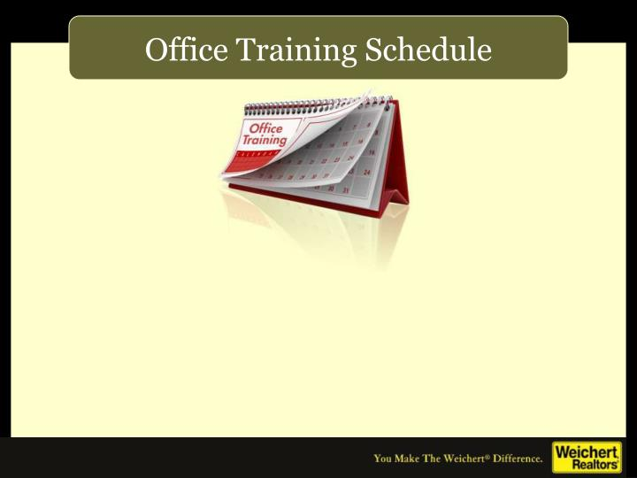 Office Training Schedule