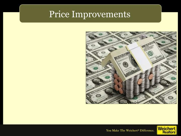 Price Improvements