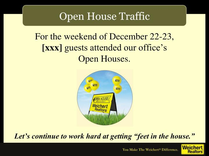 For the weekend of December 22-23,