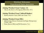 weichert welcomes experienced sales associates