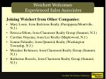 weichert welcomes experienced sales associates4