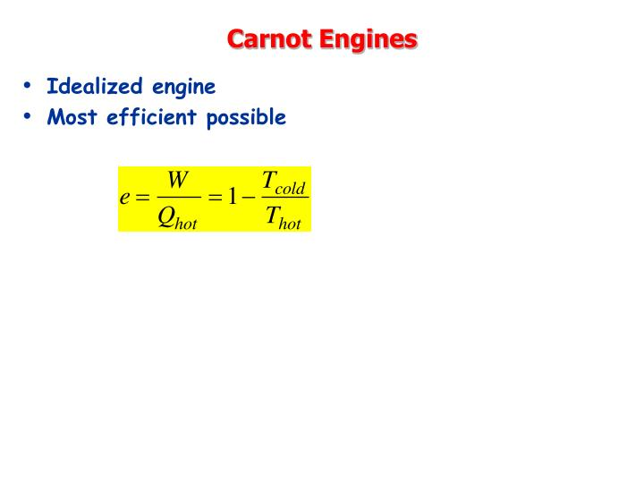 Carnot Engines