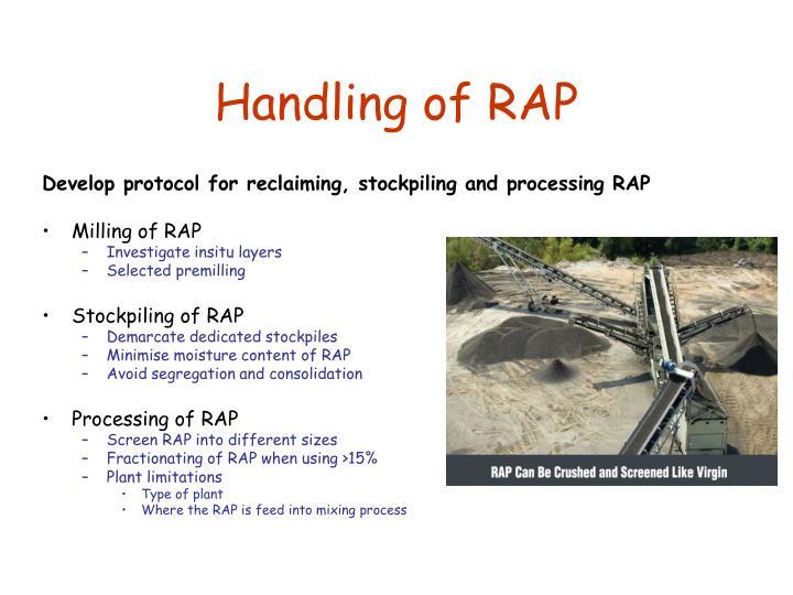 Handling of RAP