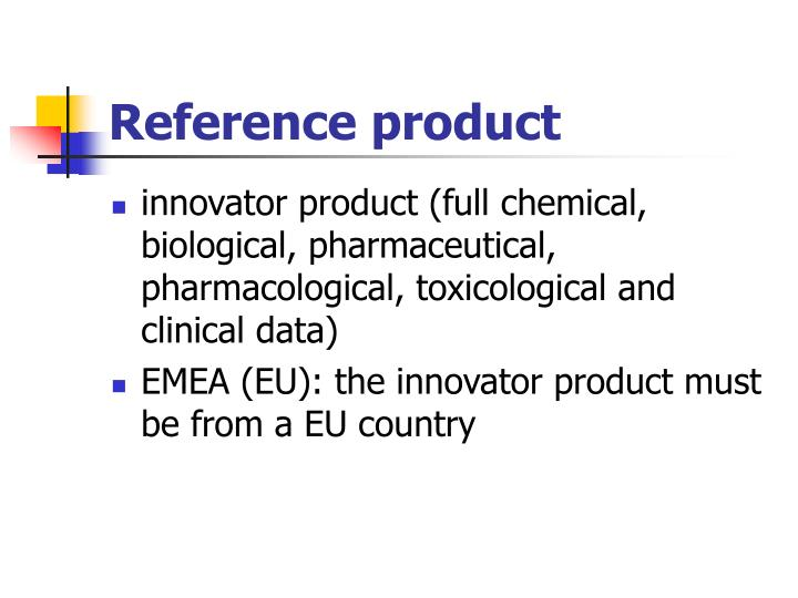 Reference product