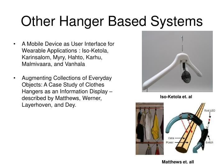 Other Hanger Based Systems