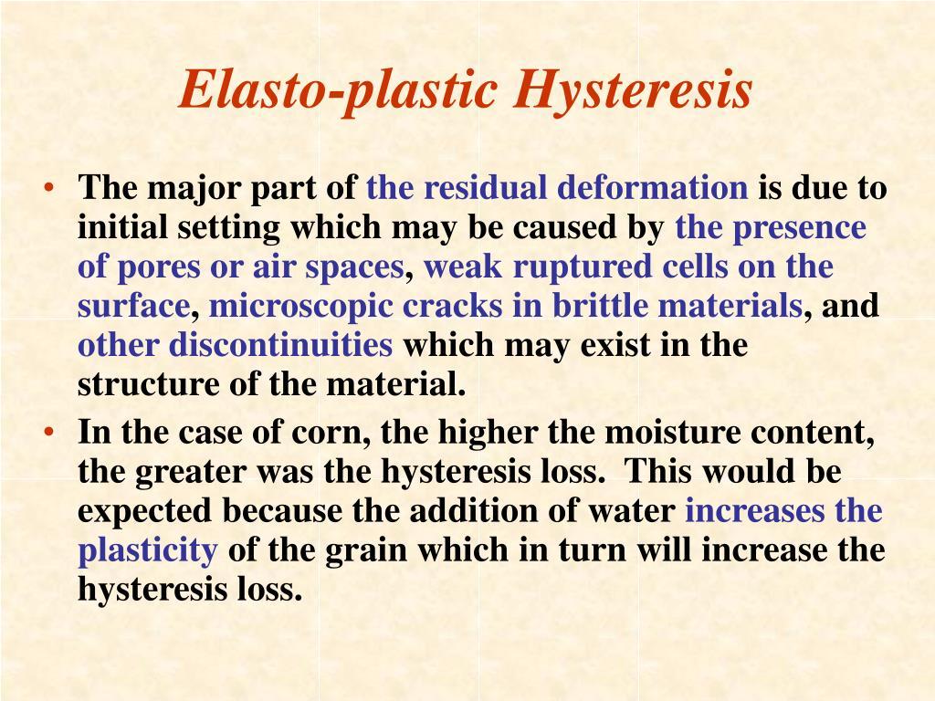 Elasto-plastic Hysteresis