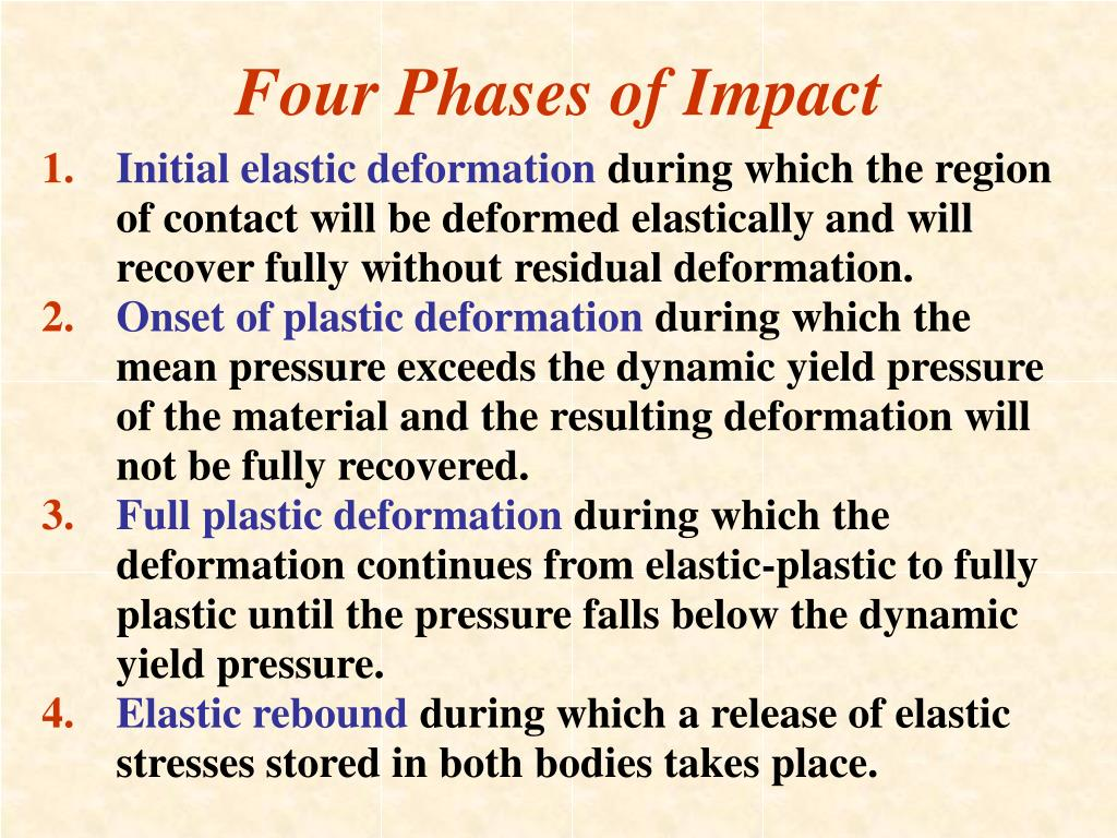 Four Phases of Impact