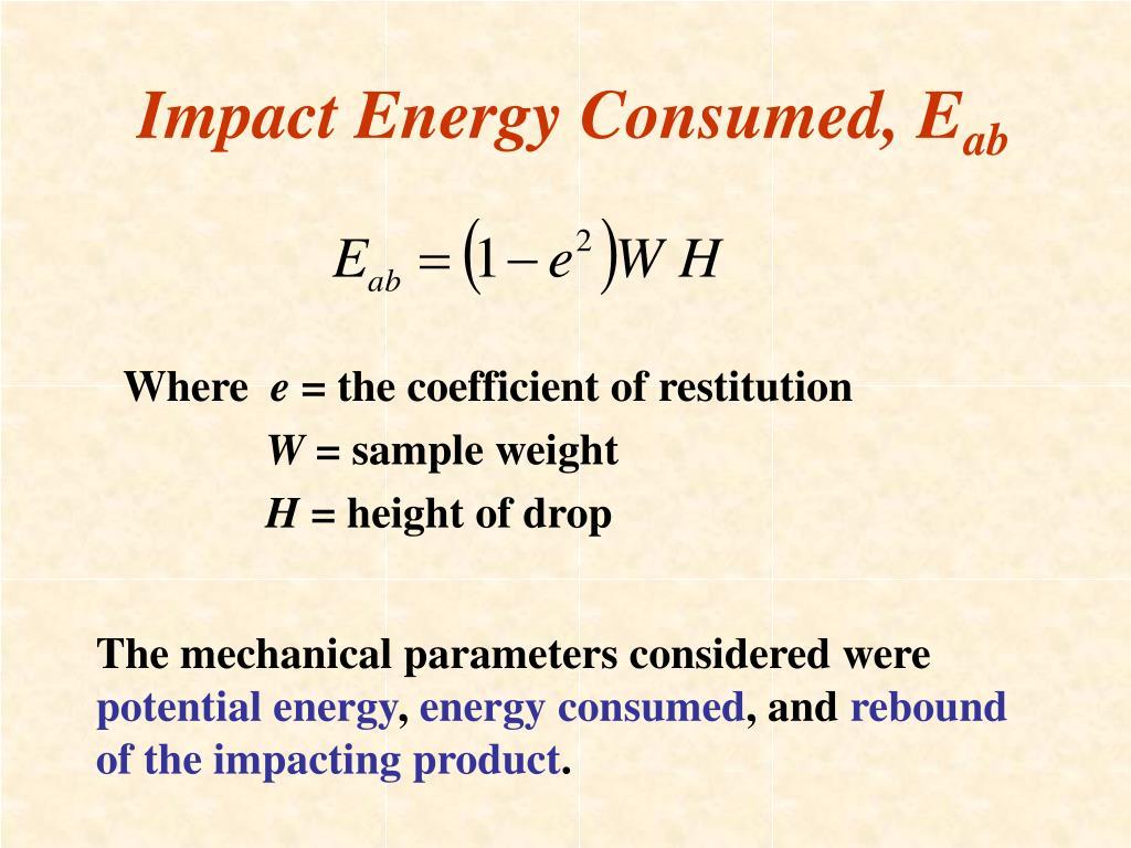 Impact Energy Consumed, E