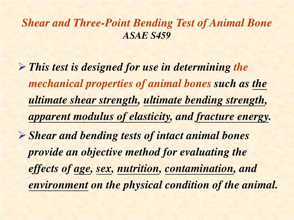 Shear and Three-Point Bending Test of Animal Bone