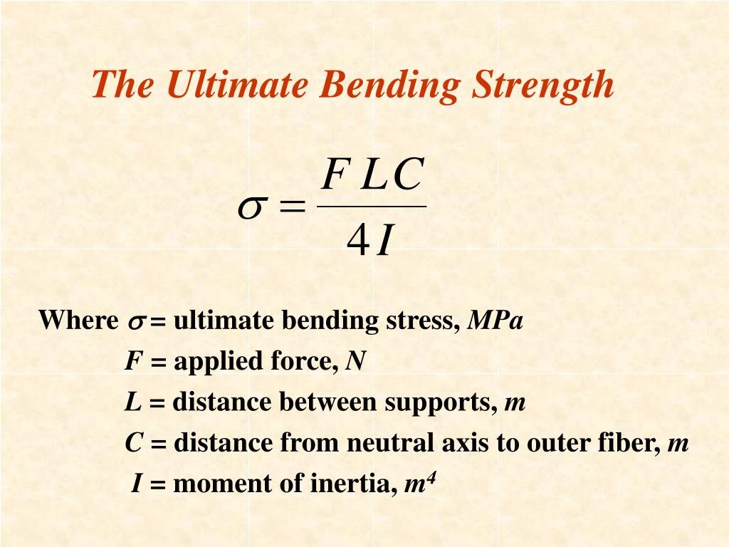 The Ultimate Bending Strength