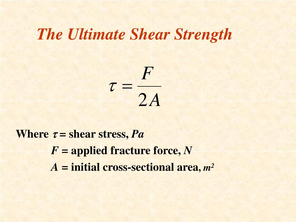 The Ultimate Shear Strength