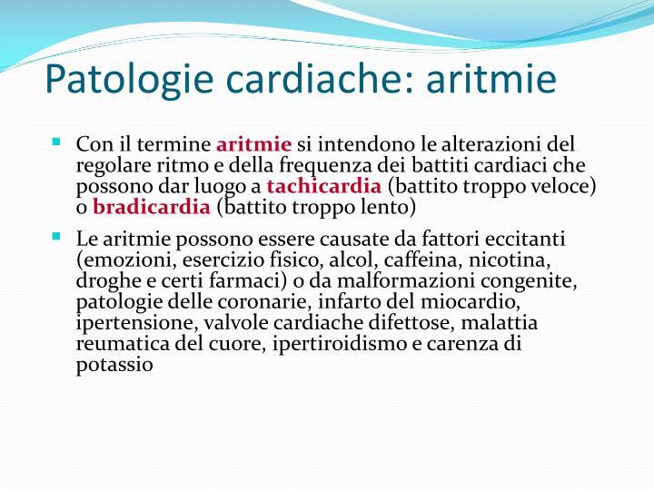 Patologie cardiache: aritmie