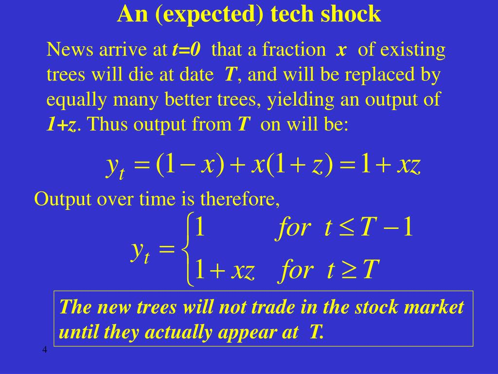 An (expected) tech shock