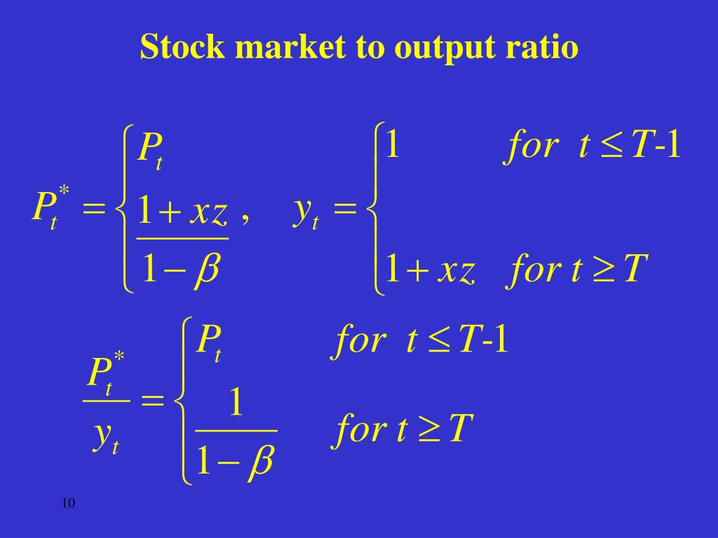 Stock market to output ratio
