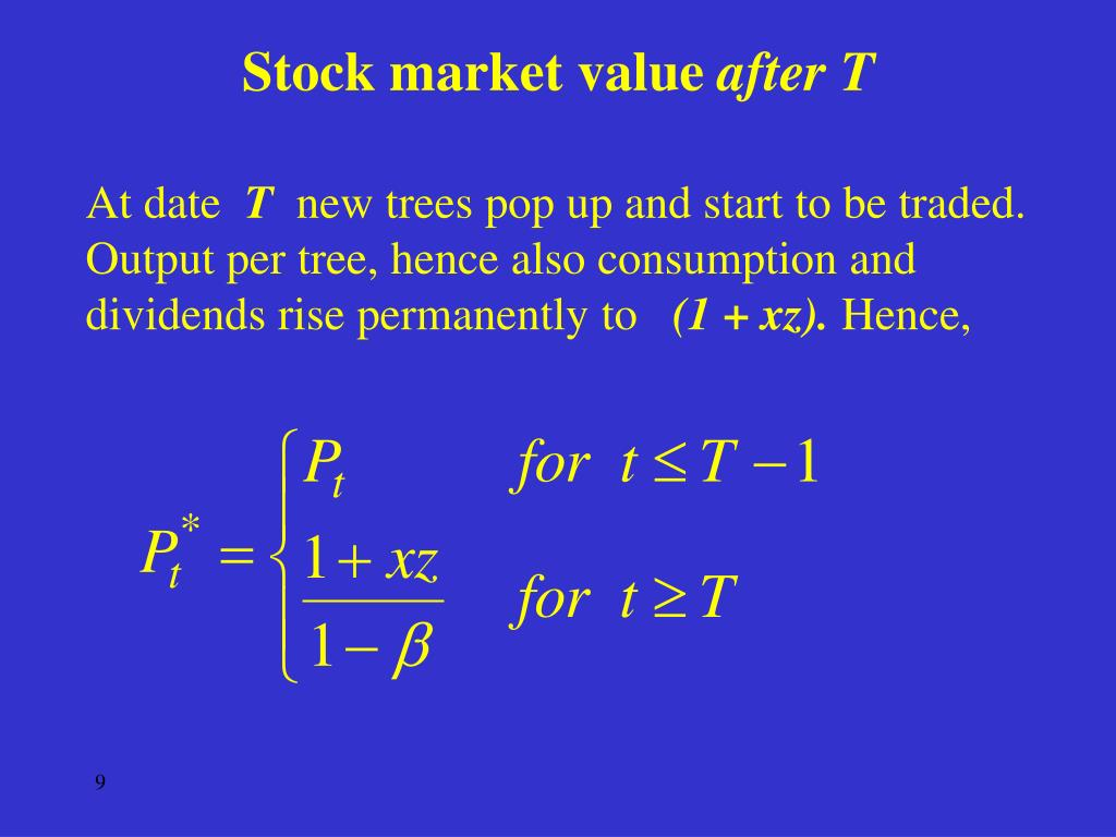 Stock market value