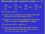 stock market value comparative statics for t t