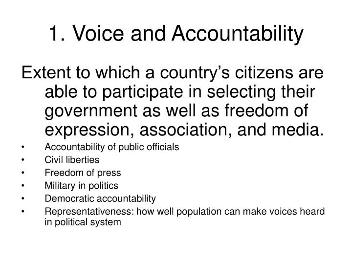 1. Voice and Accountability