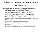 2 political instability and absence of violence