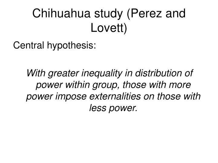 Chihuahua study (Perez and Lovett)