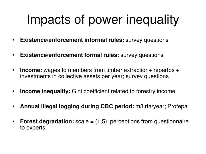 Impacts of power inequality