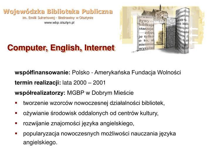 Computer, English, Internet