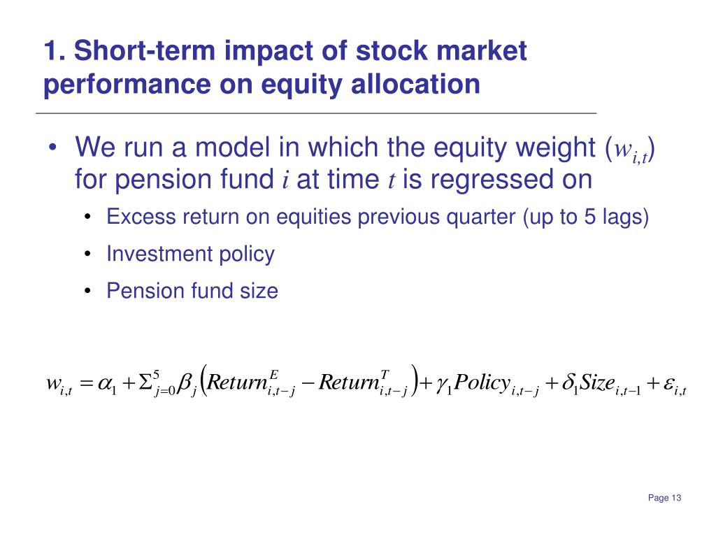 1. Short-term impact of stock market performance on equity allocation