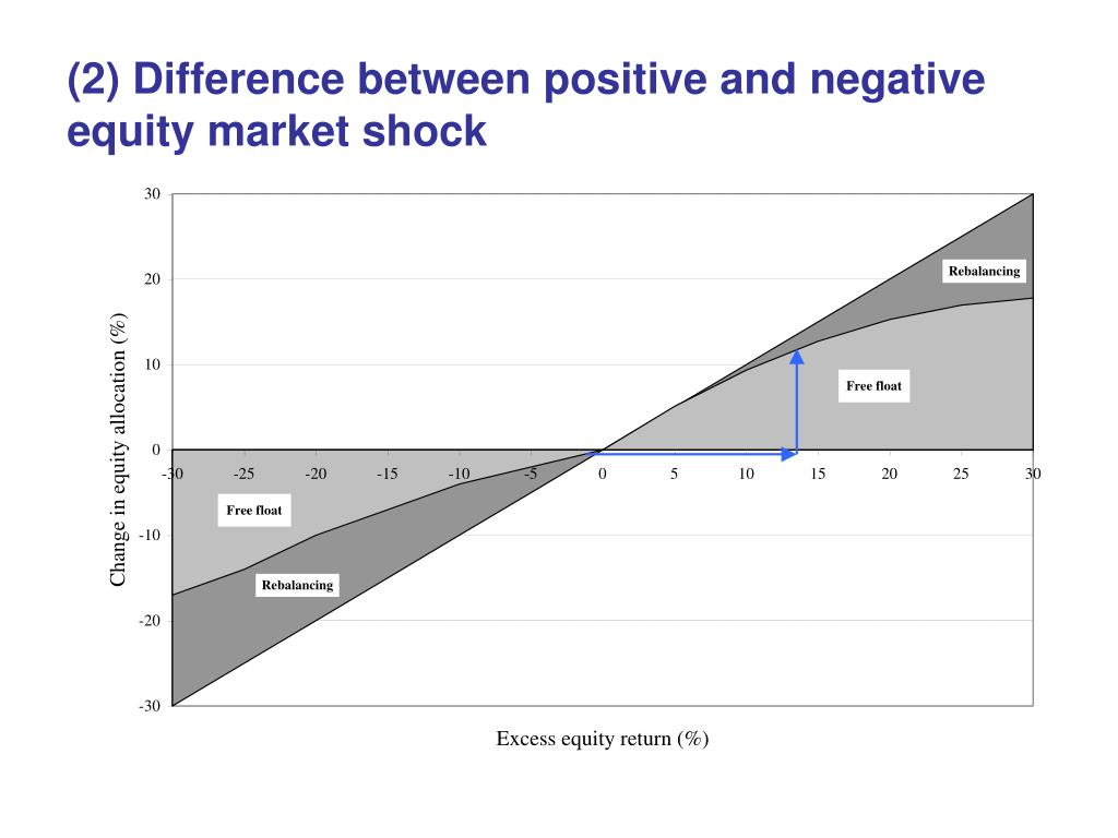 (2) Difference between positive and negative equity market shock