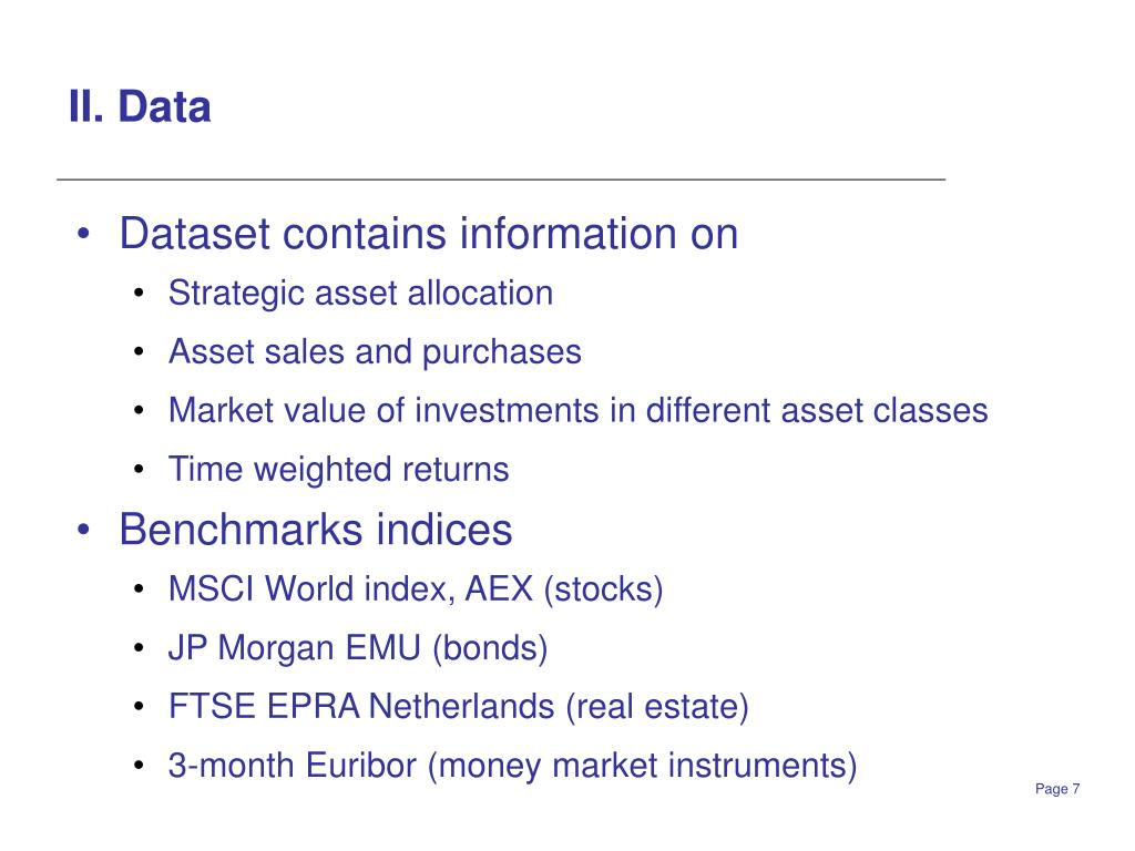 II. Data