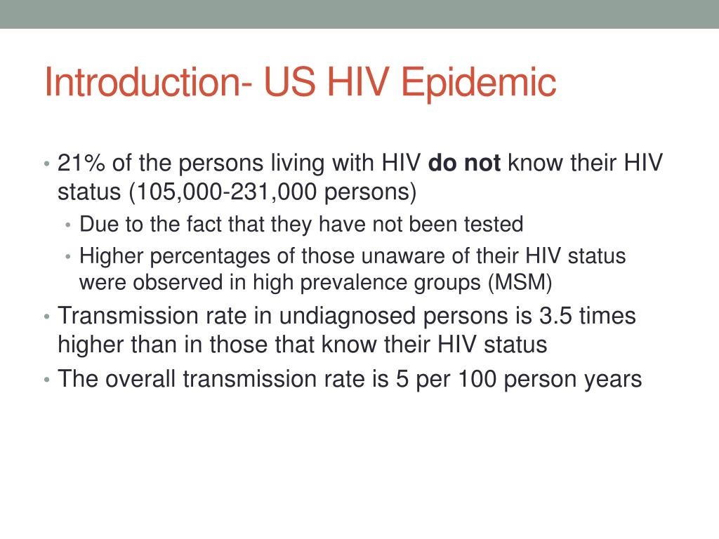 Introduction- US HIV Epidemic