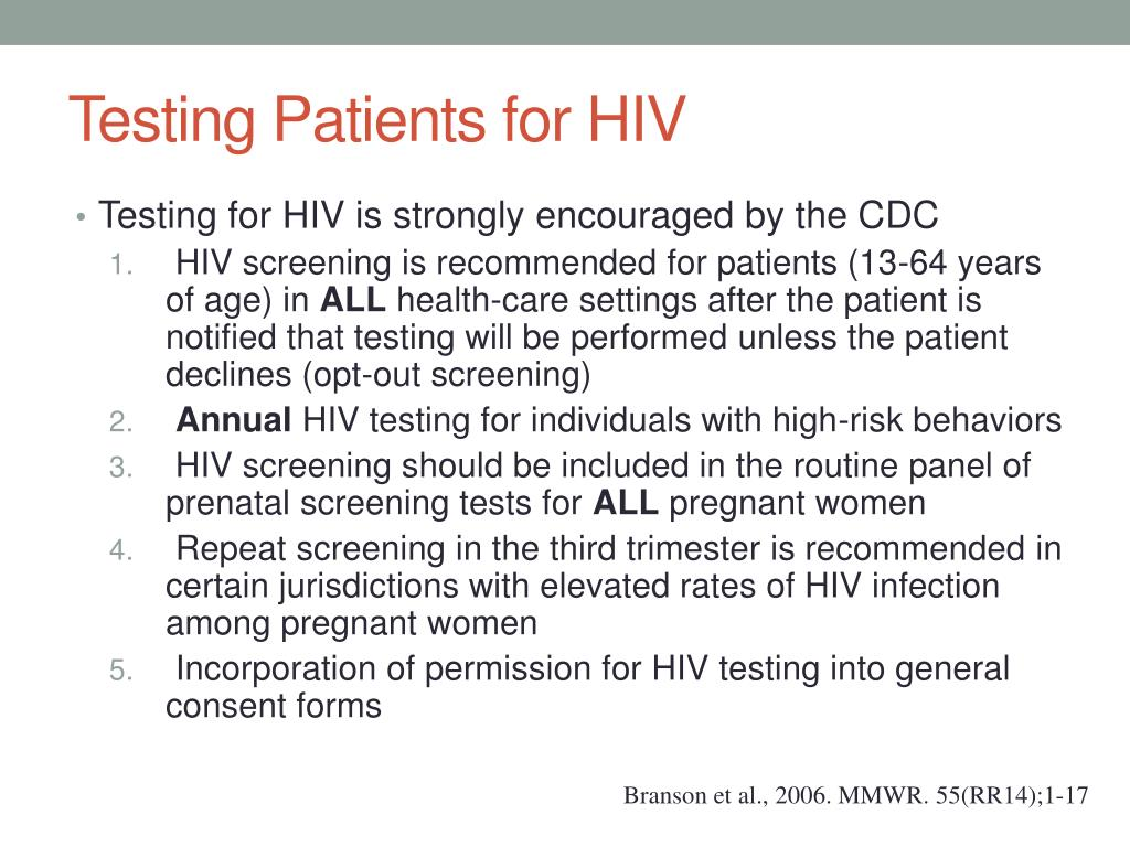 Testing Patients for HIV