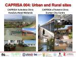 caprisa 004 urban and rural sites