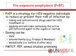 pre exposure prophylaxis prep