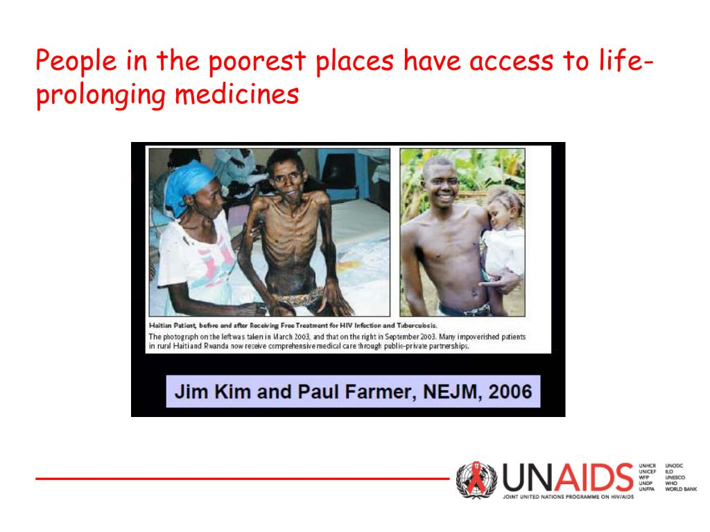 People in the poorest places have access to life-prolonging medicines