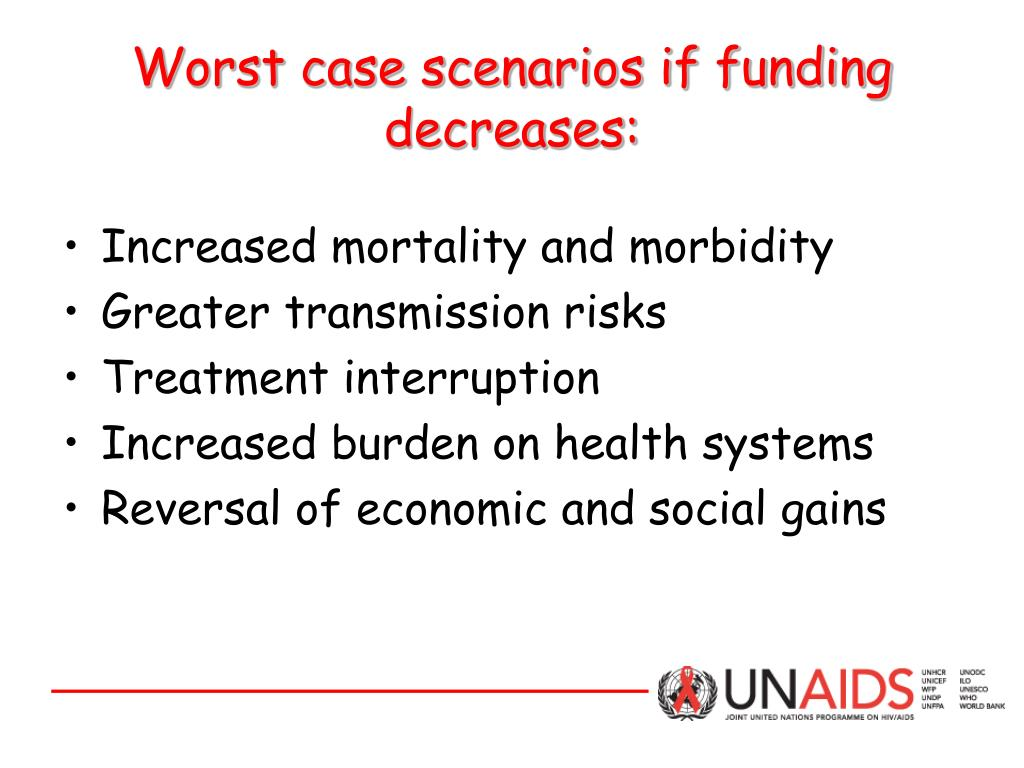 Worst case scenarios if funding decreases: