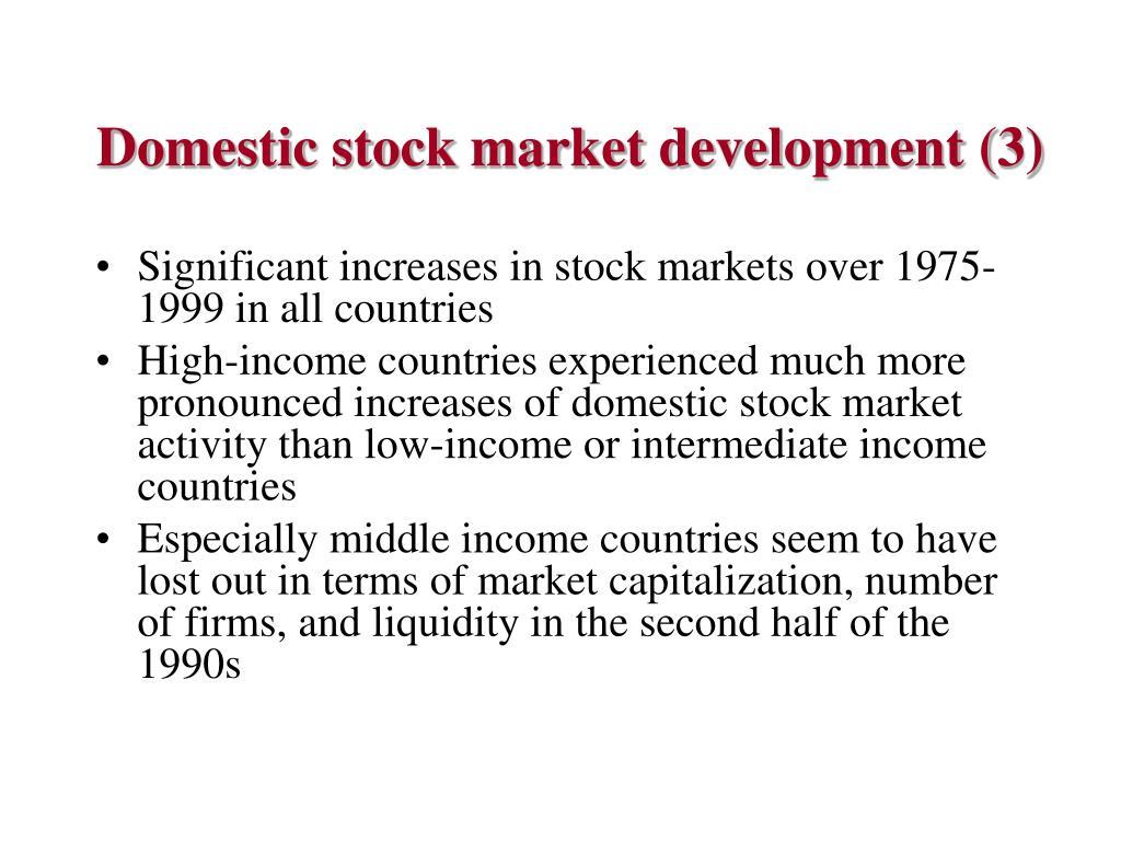 Domestic stock market development (3)